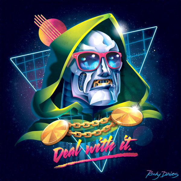 80ies Album Cover Villains Doom