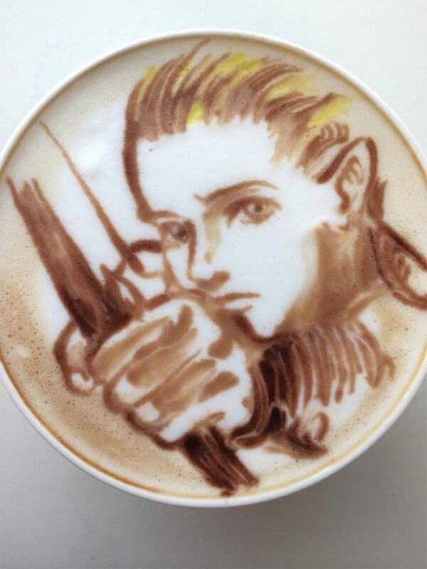 Colorful Caffe Latte Art Legolas