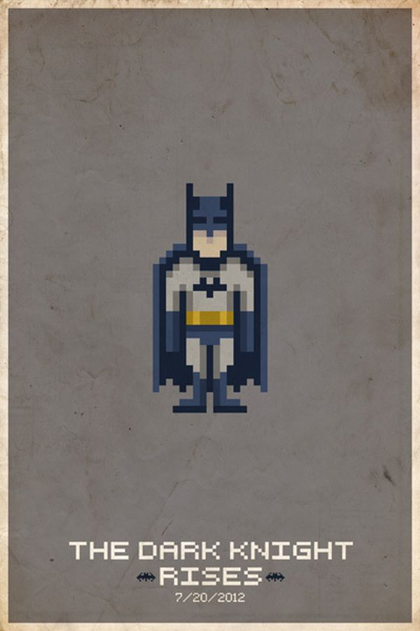 Comic Book Pixel Art Movie Character by Michael Myers The Dark Knight Rises