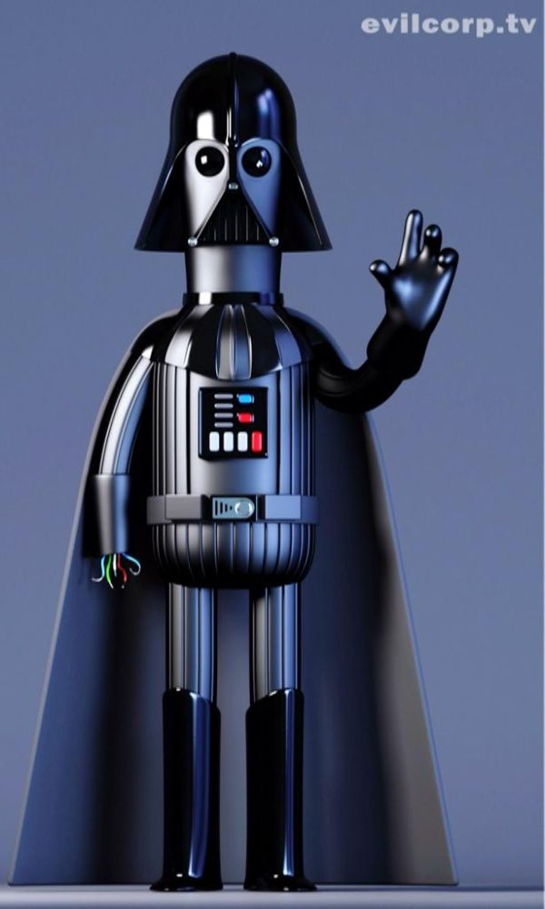 Star Wars Digital Vinyl Caricature by Evil Corp Darth