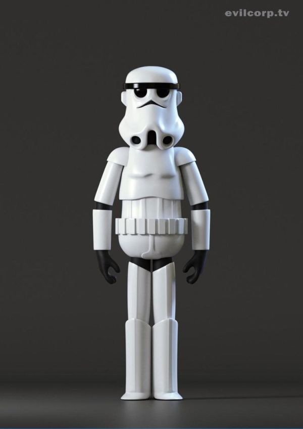 Star Wars Digital Vinyl Caricature by Evil Corp Storm Trooper
