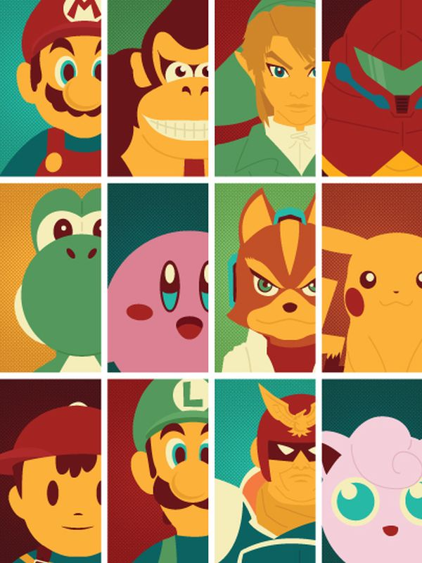 Video Game Character Illustrations by Andrew Heath Nintendo