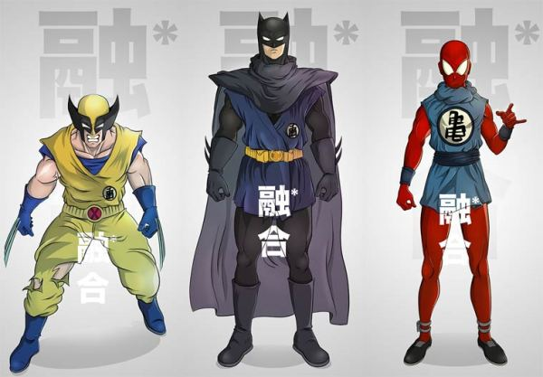 Batman meets Dragon Ball Z Pop Culture Mashups by PIERRE-MARIE LENOIR 01