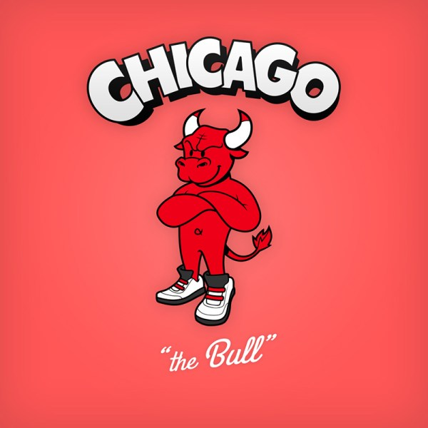 NBA Logos Cartoon Character by Baboon Creation the Bull