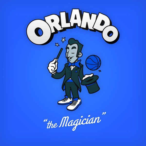 NBA Logos Cartoon Character by Baboon Creation the Magican