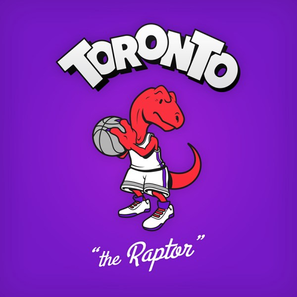 NBA Logos Cartoon Character by Baboon Creation the Raptor