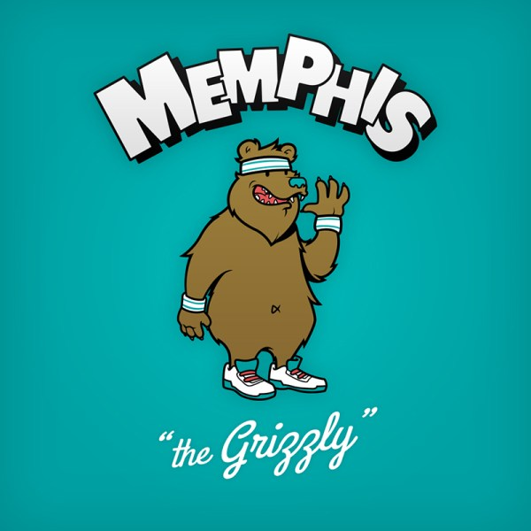 NBA Logos Cartoon Character by Baboon Creation the grizzly