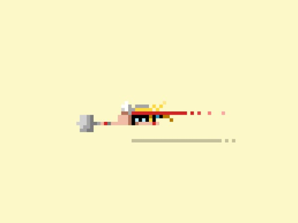Pixelated Art by James Boorman Thor