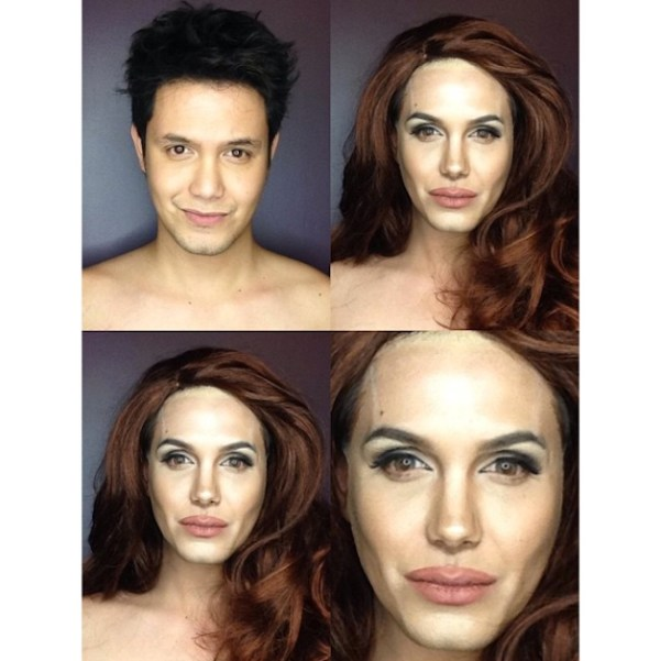 Makeup Transforms Into Various Female Celebrities by Paolo Ballesteros 07