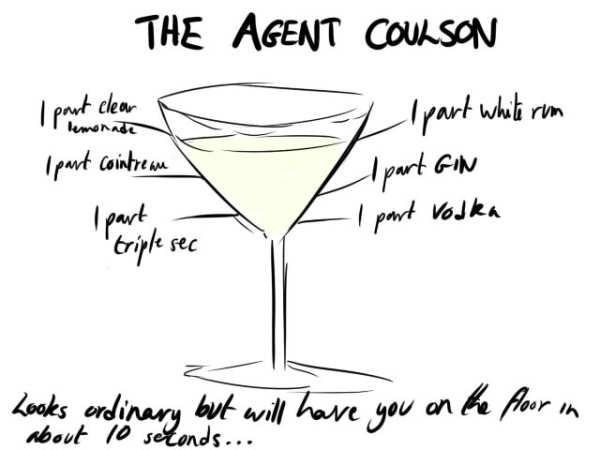 Avengers Cocktails by the-more-i-arty Agent Coulson