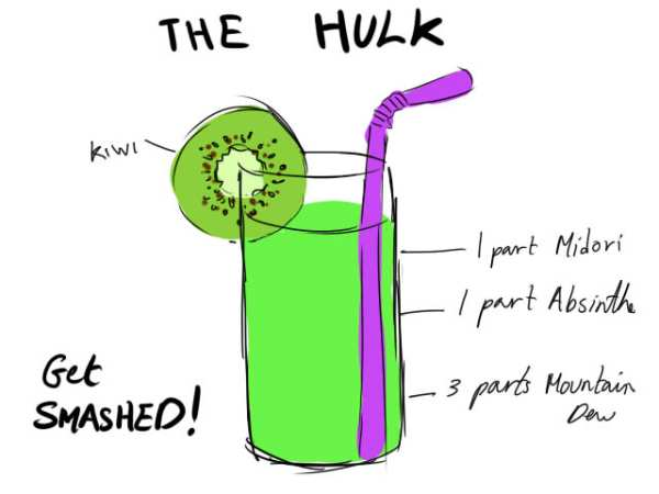 Avengers Cocktails by the-more-i-arty Hulk