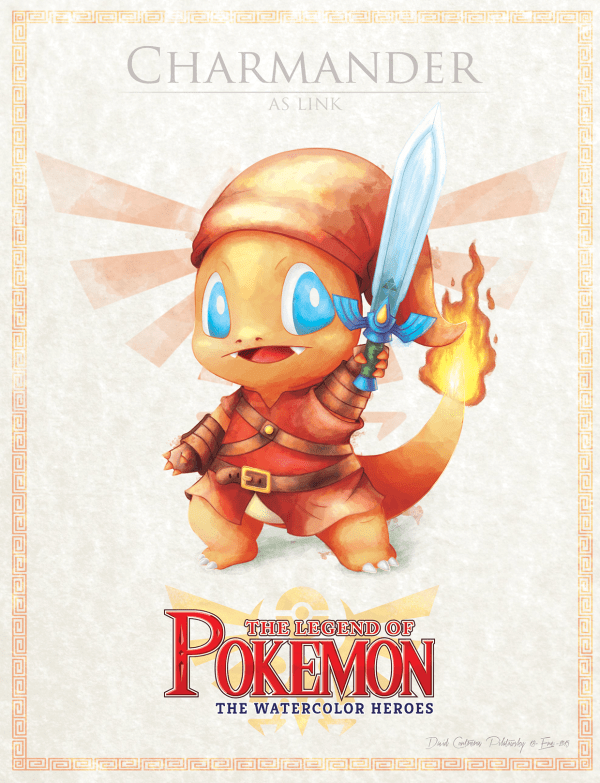 Pokemon Zelda Mashup by David Pilatowsky Charmander