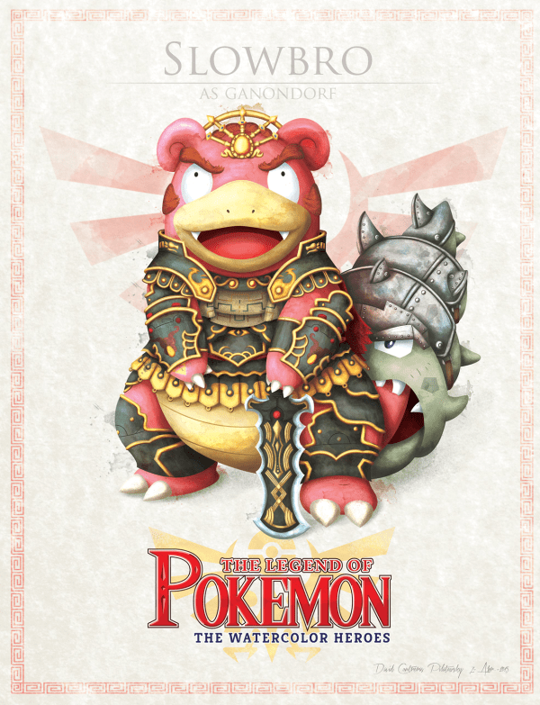 Pokemon Zelda Mashup by David Pilatowsky Slowbro