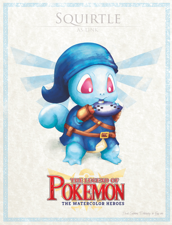 Pokemon Zelda Mashup by David Pilatowsky Squirtle