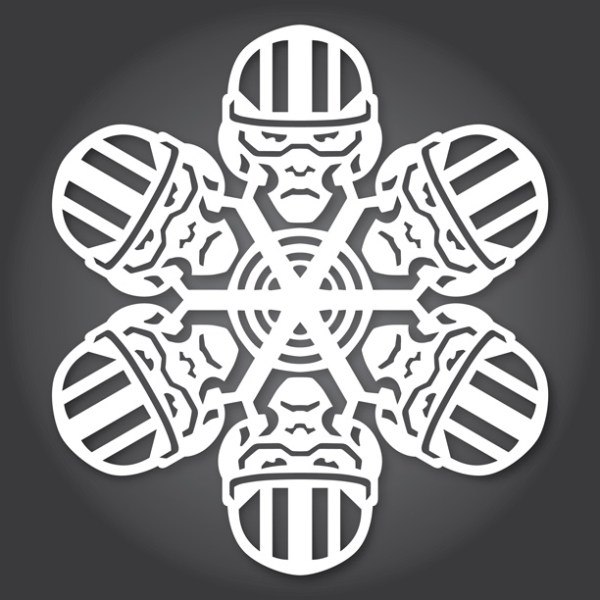 Star Wars SnowFlakes by Anthony Herrera Poe Dameron