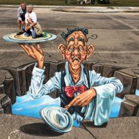 These 3D Pavement Paintings Take Chalk Art to a New Level