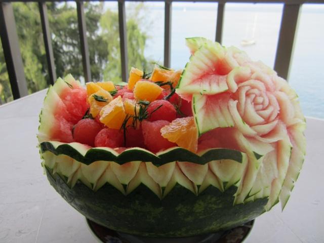 Carved Watermelon Basket  Thai Creations