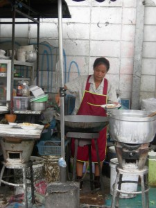 Thai street food vendor