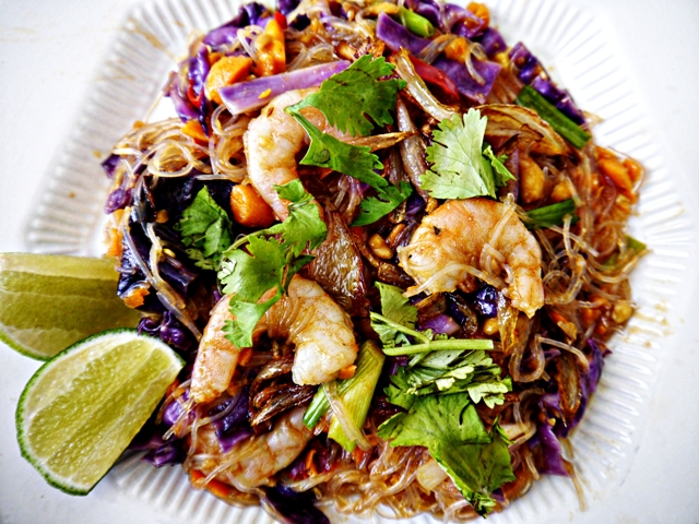 Recipe for Thai Fusion Rainbow Noodle Salad