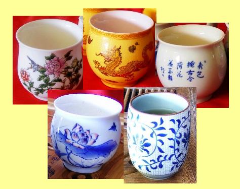 Tee-Tassen, Collage, Herkunft: Taiwan