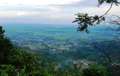 Doi Tung, Nord-Thailand, Panorama-Aussicht über Land und Dörfer