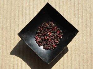 Schwarzer Tee / Rosella Hibiskus Teemischung, Ratio 5:2, Trockenmischung
