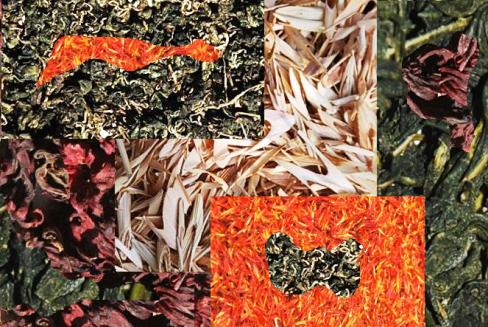Kräuter-Tees aus Thailand, Collage