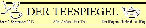 DER TEESPIEGEL - Der Blog im Siam Tee Blog: Logo