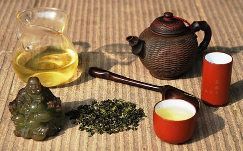 Tie Guan Yin Oolong Tee aus Anxi County, Provinz Fujian, China, Gong Fu Cha