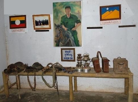 Khun Sa Exponate im Khun Sa Museum, Ban Hin Taek