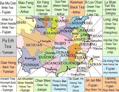Große Tees Chinas - Meine 20 chinesischen Lieblingstees