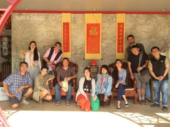 Klasse und Lehrer: erster Tee-Kurs in Doi Mae Salongs Teeschulethe Doi Mae Salong