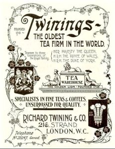 Alte Twinings-Werbung