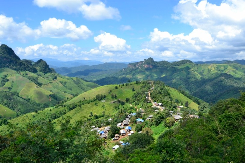 tribal mountain village near Ban Pang Kham
