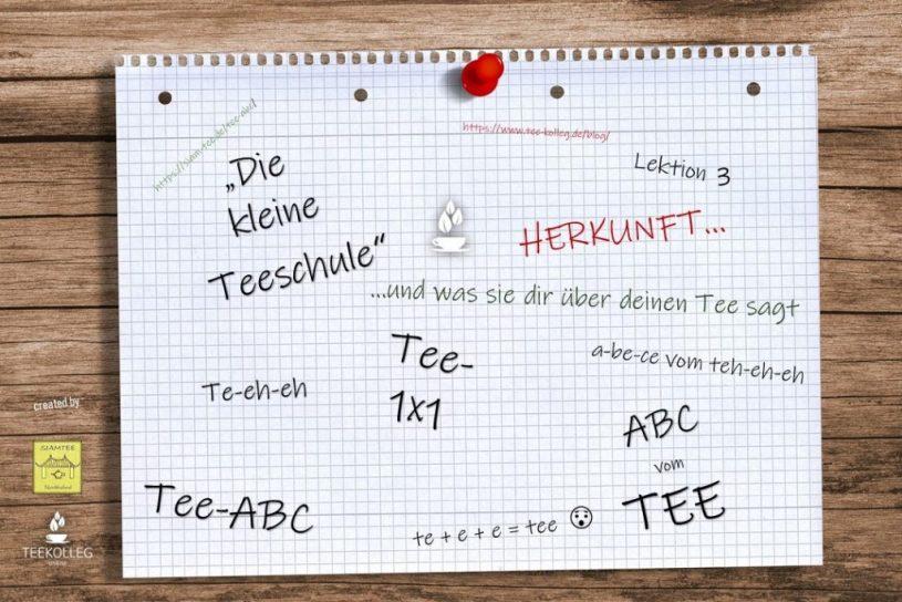 Die Kleine Teeschule - Das ABC vom TEE, Lektion 3 : Herkunft - Was sie dir über deinen Tee sagt