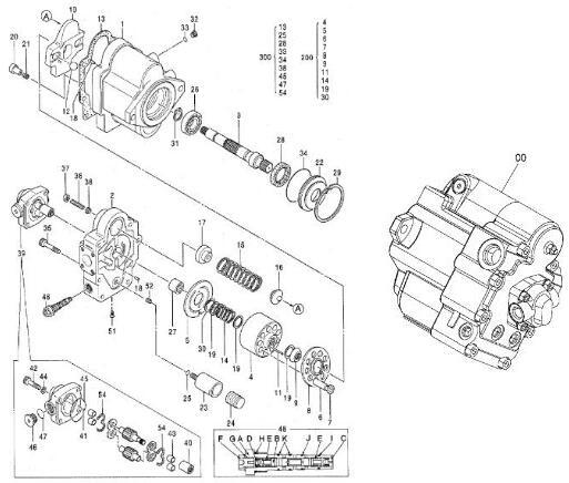 4621412 ปั๊มลูกสูบไฮดรอลิก NACHI PVK-2B-505 สำหรับ Hitachi