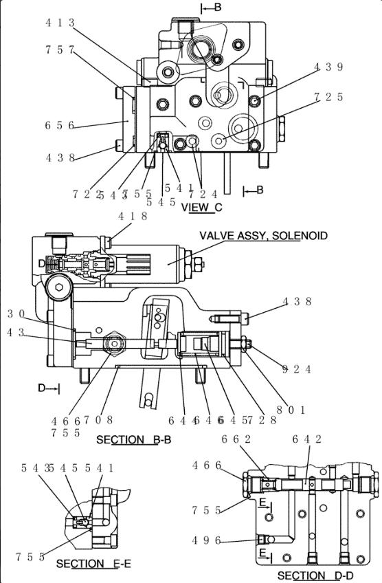 SK200-8 / SK210-8 Excavator ไฮดรอลิกชิ้นส่วนปั๊ม Regulator