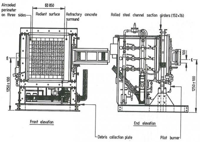 วัสดุฉนวนกันความร้อนอุปกรณ์ทดสอบไฟฟ้า BS 476 Part 7