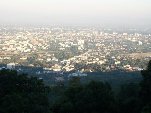 chiangmai from the doi suthep mountain