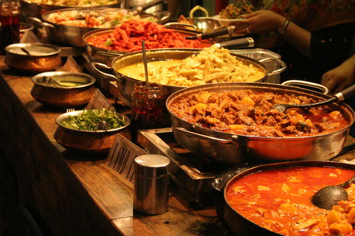 Indian food- buffet-expect this in Thailand