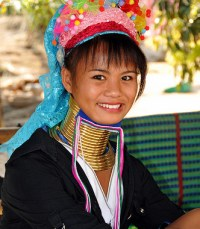 Chiang mai Thailand - Hill tribes, long neck women, Chiang mai girl