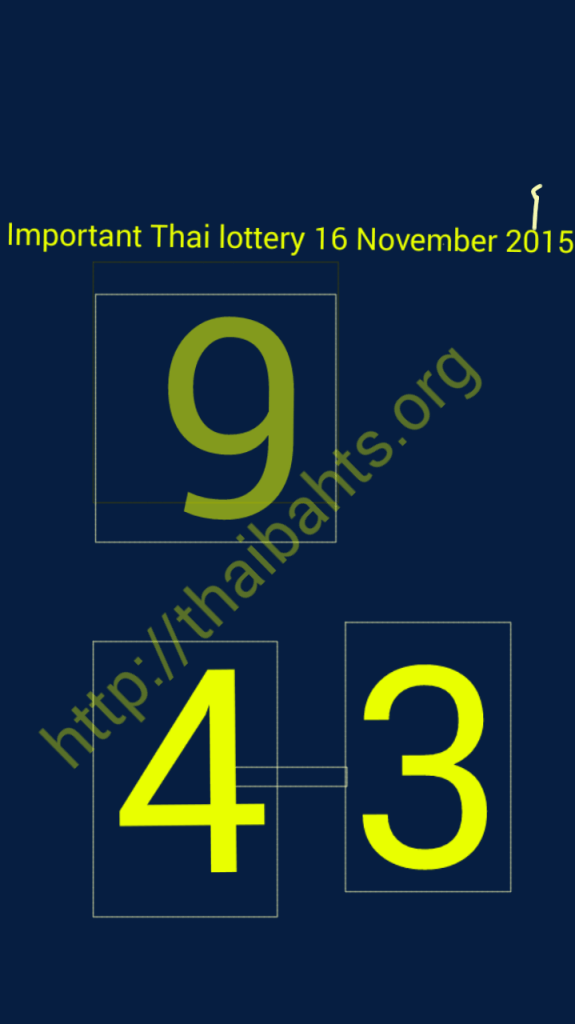 Thai lottery 16112015 Sketch32160