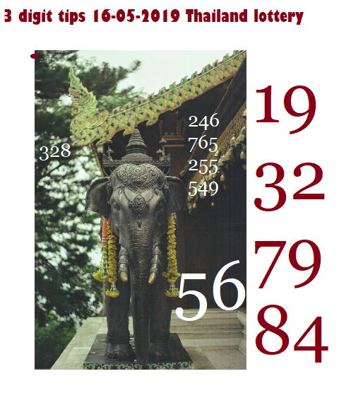 3d tips Thai lottery results 16-05-2019