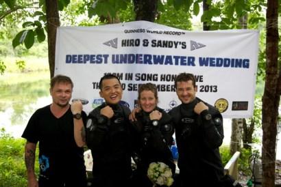 самая глубоководная свадьба в мире (1)