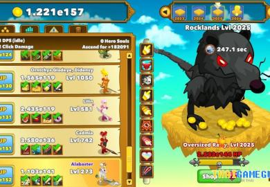 Clicker Heroes Save Data Editor