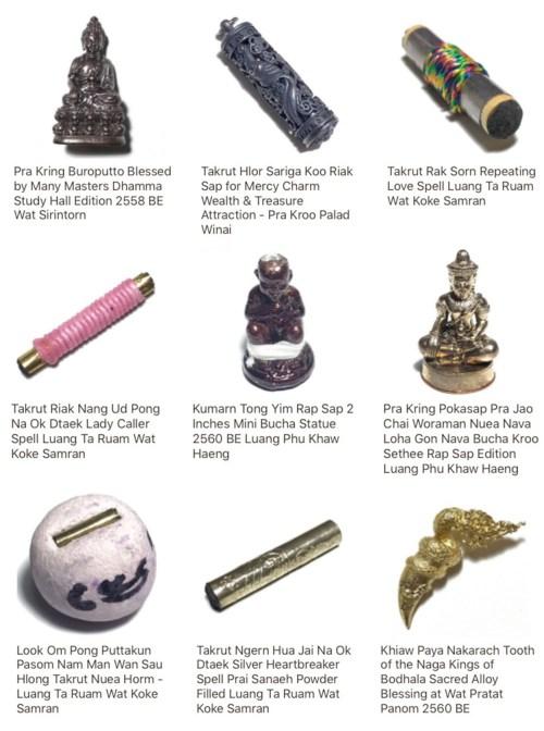 Buddhist Amulets in Buddhist Amulet Store