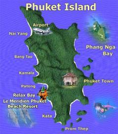 Phuket island map - phuket information