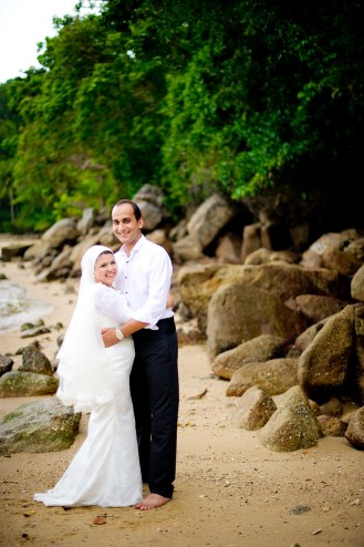 Yasmine and Mohamed's Beach pre-wedding (prenuptial, engagement session) in Phuket, Thailand. Beach_Phuket_wedding_photographer_Yasmine and Mohamed_02.JPG