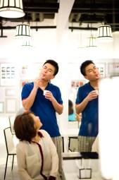 Bangkok, Thailand - Pre-Wedding photo of a Chinese couple at an ice cream shop in Bangkok.