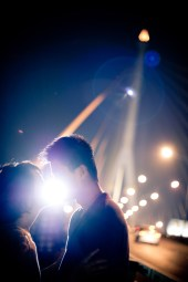 Bangkok, Thailand - Pre Wedding photo taken on a suspension bridge in Bangkok.